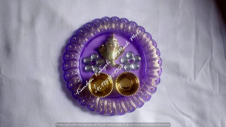 Ganesh Thali- Purple