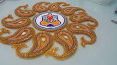 Ganesh Rangoli-Gold