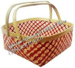 Palm leaf Basket Red
