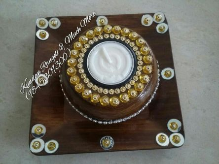Wooden Candle Stand -1